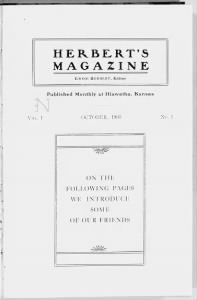 Sample Herbert's Magazine front page