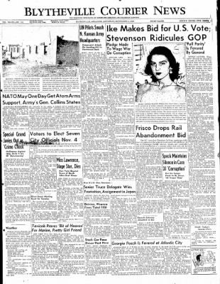 The Courier News from Blytheville, Arkansas on September 6, 1952 · Page 1