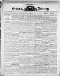 Sample Neue Kansas Staats-Zeitung front page