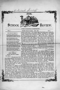 Sample Our School Review front page