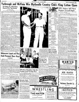 The Courier News from Blytheville, Arkansas on September 8, 1952 · Page 8