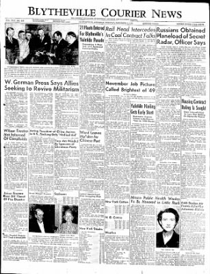 The Courier News from Blytheville, Arkansas on December 6, 1949 · Page 1