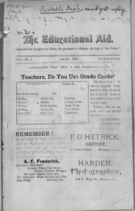 Sample Educational Aid front page