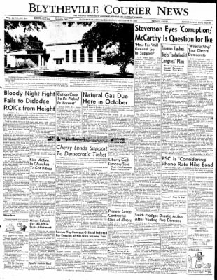 The Courier News from Blytheville, Arkansas on September 11, 1952 · Page 1
