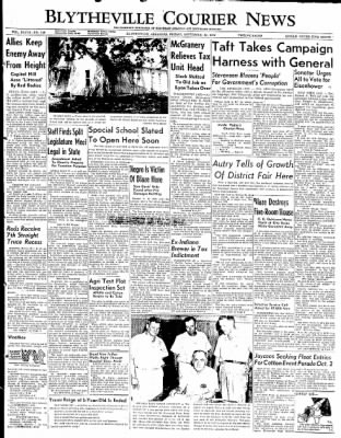 The Courier News from Blytheville, Arkansas on September 12, 1952 · Page 1