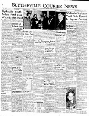 The Courier News from Blytheville, Arkansas on December 13, 1949 · Page 1