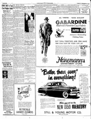 The Courier News from Blytheville, Arkansas on December 13, 1949 · Page 6