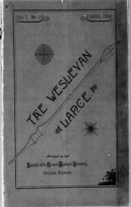Sample The Wesleyan Lance front page