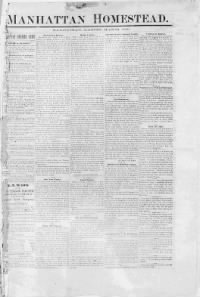 Sample Manhattan Homestead front page