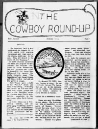 Sample The Cowboy Round-Up front page