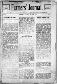 Sample Farmer's Journal and Household Magazine front page