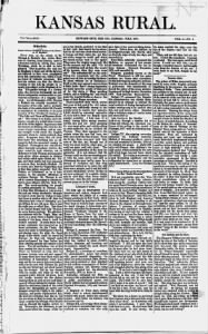 Sample Kansas Rural front page