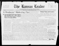 Sample The Kansas Leader front page