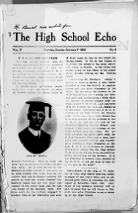 Sample High School Echo front page