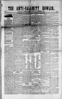 The Anti-Calamity Howler from Chanute, Kansas on November 2, 1891 · 1