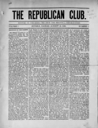 Sample The Republican Club front page