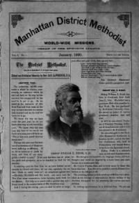 Sample Manhattan District Methodist and World-Wide Mission front page