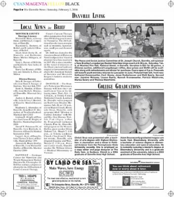 The Danville News from Danville, Pennsylvania on February 2