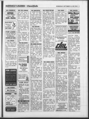 Oakdale Leader from Oakdale, California on September 18, 1991 · 33