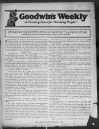 Sample Goodwin's Weekly front page