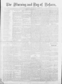 Sample Morning and Day of Reform front page