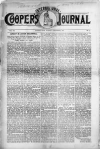 Sample Cooper's International Journal front page