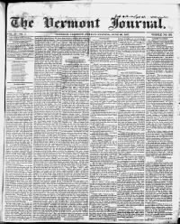 Sample Vermont Journal front page