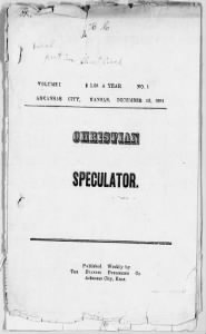 Sample Christian Speculator front page