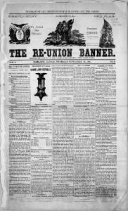 Sample The Re-union Banner front page