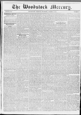 The Woodstock Mercury, and Windsor County Advertiser from Woodstock, Vermont on March 25, 1852 · 1