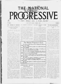 Sample The National Progressive front page