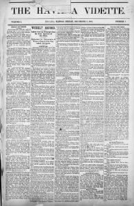 Sample The Havana Vidette front page