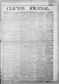 Sample Clifton Journal front page