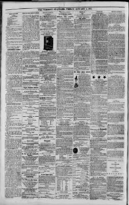 Vermont Standard From Woodstock Vermont On January 4 1861 4