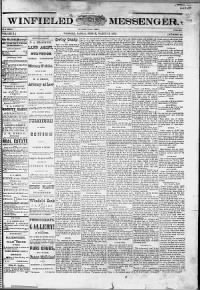 Sample Winfield Messenger front page
