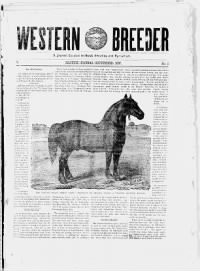 Sample Western Breeder front page