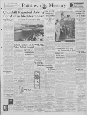 The Mercury from Pottstown, Pennsylvania on June 20, 1942 · Page 1
