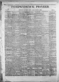 Sample Independence Pioneer front page