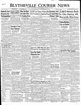 The Courier News from Blytheville, Arkansas on December 29, 1949 · Page 1