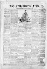 Sample The Leavenworth Lever front page
