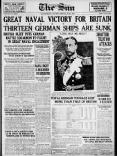 Canadian newspaper front page with headlines calling Jutland