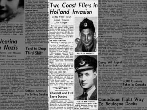 News of two Canadian men who were involved in the invasion of Holland (Operation Market Garden)