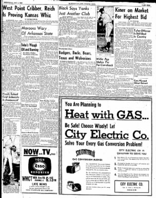 The Courier News from Blytheville, Arkansas on October 1, 1952 · Page 9
