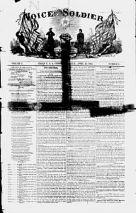 Sample Voice of the Soldier front page