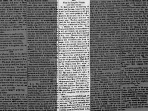 Excerpt from article with details of the progress of Erie Canal construction as of 1824