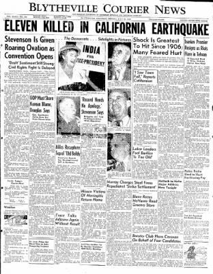 The Courier News from Blytheville, Arkansas on July 21, 1952 · Page 1