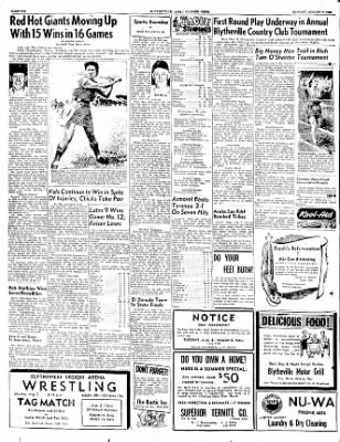 The Courier News from Blytheville, Arkansas on August 7, 1950 · Page 6