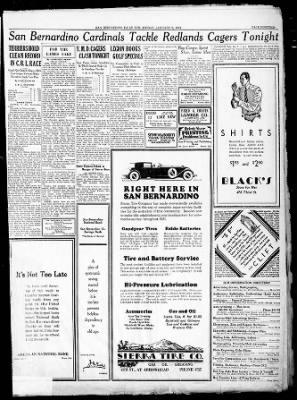 The San Bernardino County Sun from San Bernardino, California on January 9, 1931 · Page 17