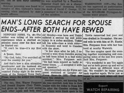 Clip of the Day: Man Reunited With First Wife Who Thought Him Dead