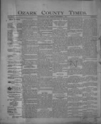 Sample Ozark County Times front page
